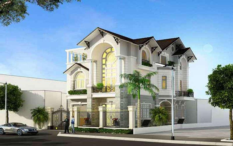 hình ảnh ngôi nhà đẹp 2 tầng