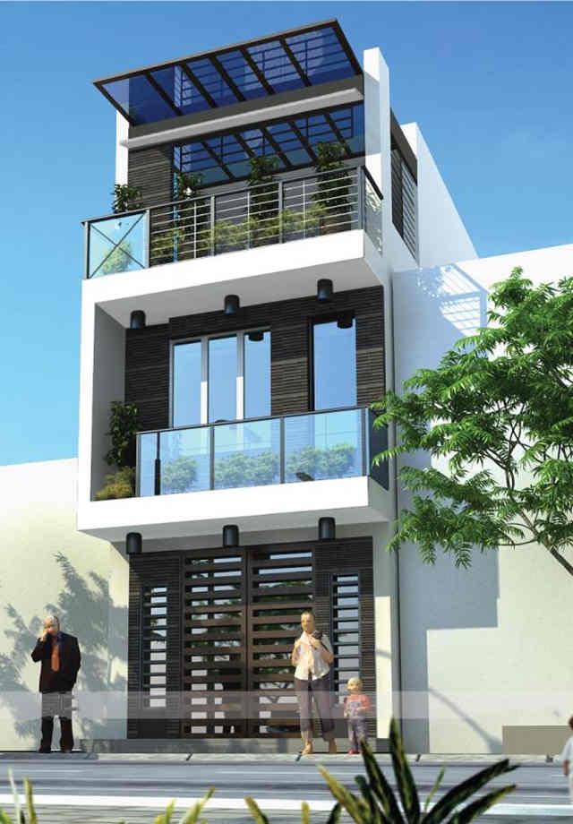 mẫu thiết kế mặt tiền nhà 2 tầng