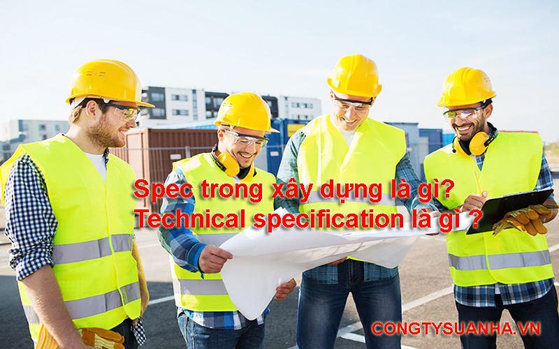 spec là gì trong xây dựng