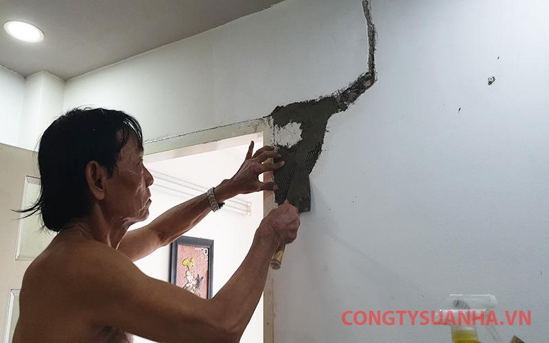 cách xử lý tường bị nứt
