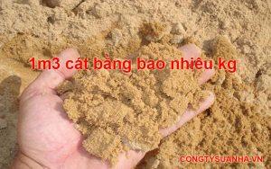 1 khối cát bằng bao nhiêu kg?