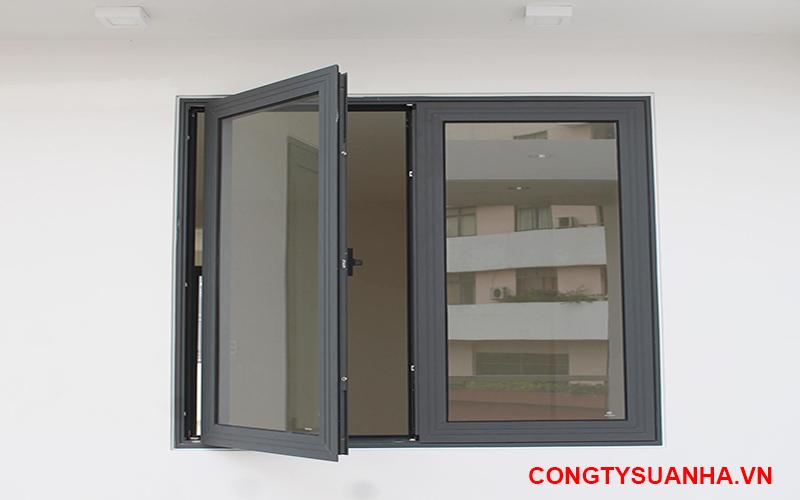 mẫu cửa sổ 2 cánh nhôm xing fa đẹp