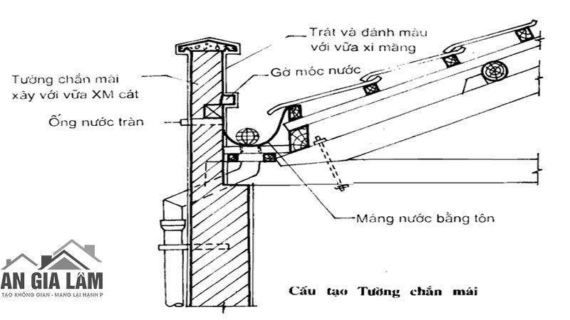 cấu tạo tường chắn mái sê nô