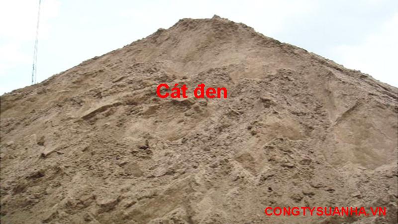 Các loại cát xây dựng, cát đen