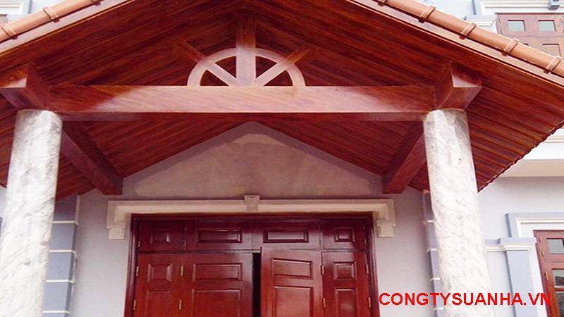sơn giả gỗ mặt tiền nhà phố